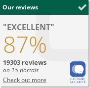 Customer Alliance certificate - customer satisfaction